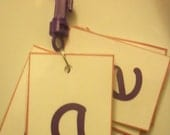 Alphabet Letters Flashcard Key Chain Laminated in Boy or Girl Colors - Kids Educational Toy - Preschool Learning - Kindergarten - Montessori