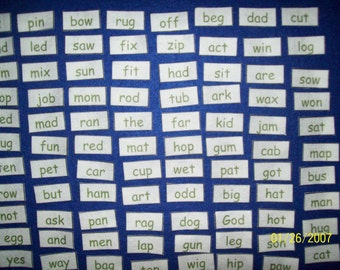 Sight Words for Preschool & Kindergarten Learning in FELT, Felt Board, Kids Educational Toy, Reading, Felt Words, Felt Toy, Montessori