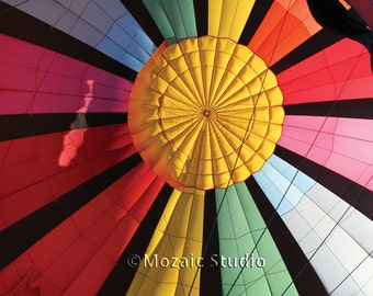 Rainbow Hot Air Balloon Greeting Cards, Set of 8