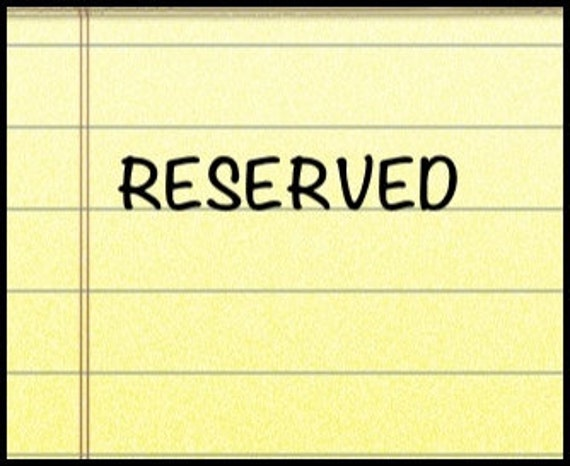 reserved for KRISTI NUSSEL