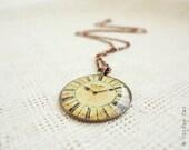 Vintage Clock Necklace