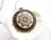 RESERVED - Indian flower necklace