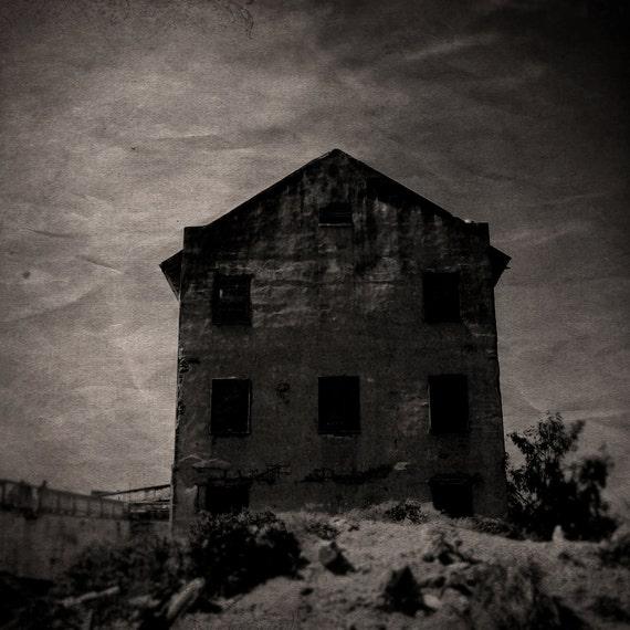 The Alcatraz Experiment - Dark Surreal Halloween Art Photo, Vintage Horror Inspired, Gothic Wall Decor, Creepy Abandoned House, Ruins
