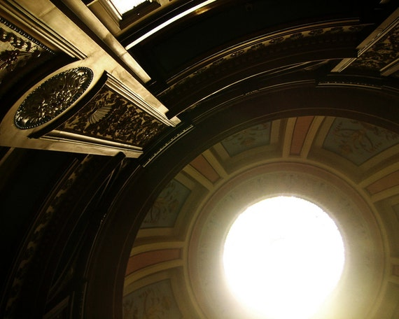 Into the Light - Modern Abstract Photo, Neoclassical Architecture, Gold and  Brown, San Francisco Wall Art