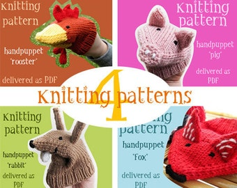 learning toy, 4 puppet knitting patterns for toddlers hands, toddler montessori toys, baby learning toy, natural toddler toy, puppet theater