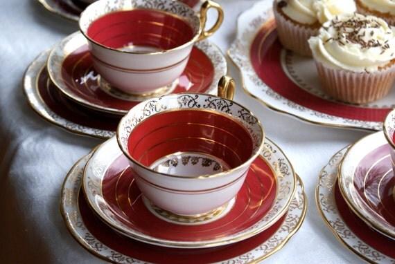 21 piece royal stafford fine bone china tea set