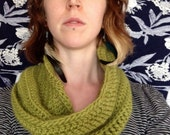Wool Infinity Scarf in Chartreuse