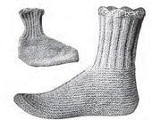 Women's Wool Socks Vintage Knitting Pattern PDF 1916