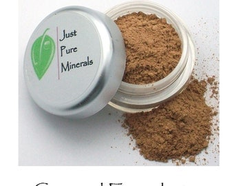 Caramel Vegan Foundation - Always Vegan and Cruelty-Free- 9g product in a 30g sifter jar