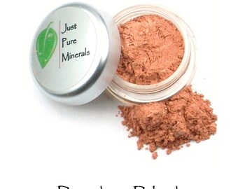 Peaches Vegan Blush - Always Vegan and Cruelty-Free - 6g product filling a 20g sifter jar