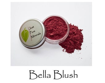 Bella Vegan Blush - Always Vegan and Cruelty-Free - 6g product filling a 20g sifter jar