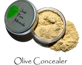 Olive Vegan Color Concealer - Always Vegan and Cruelty-Free- 6g product in a 20g sifter jar