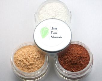 Heißen Kupfer Lidschatten Trio - Cruelty Free Mineral Lidschatten - 3 g des Produkts in jeder 10g Querstromsichter Glas