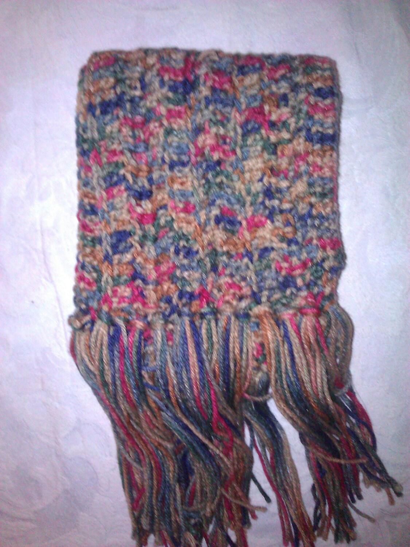 Handmade Multi Color Crocheted Winter Scarf Gift for men Crochet Scarves For Men