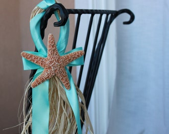 Beach Wedding Starfish Decor- Aqua