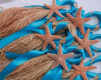 Beach Wedding Starfish- Turquoise