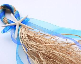 Starfish Beach Wedding Ceremony Hanger- Turquoise and Marine Blue