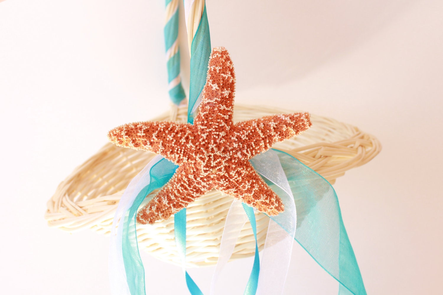 Beach Wedding Flower Girl Basket Starfish By BeachWeddingsByBree