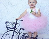 Light Pink Petti Tutu...Birthday baby girl tutu holiday photo prop dress