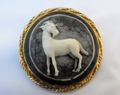 Large Capricorn Figural Brooch