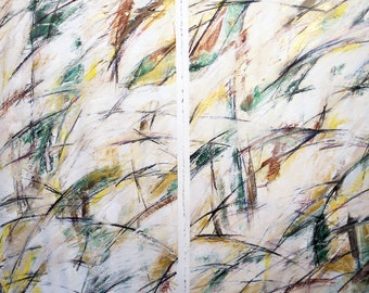 3-6-12, set of two (abstract, white, yellow, green, brown, gold)