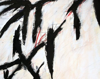 3-8-12  (abstract, black, white, cream, red)