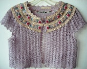 Vintage Nanette Lepore knitted purple women shrug
