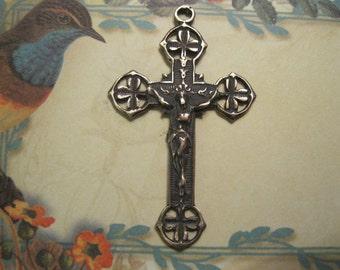 Shamrock Bronze Rosary Crucifix