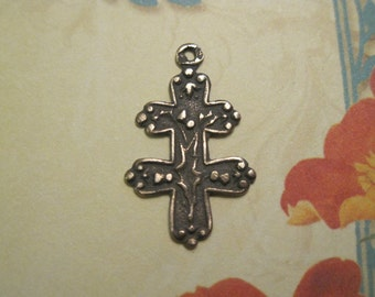 Joan of Arc  French Cross of Lorraine Antique Bronze