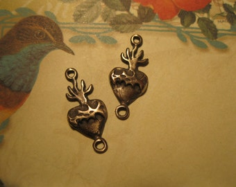 Sacred Heart  Bronze Link- Set of Two