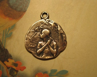 St. Joan of Arc at the Stake  Bronze French Style Religious Medal
