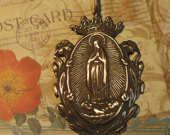 Our Lady of Guadalupe Bronze Religious Medal