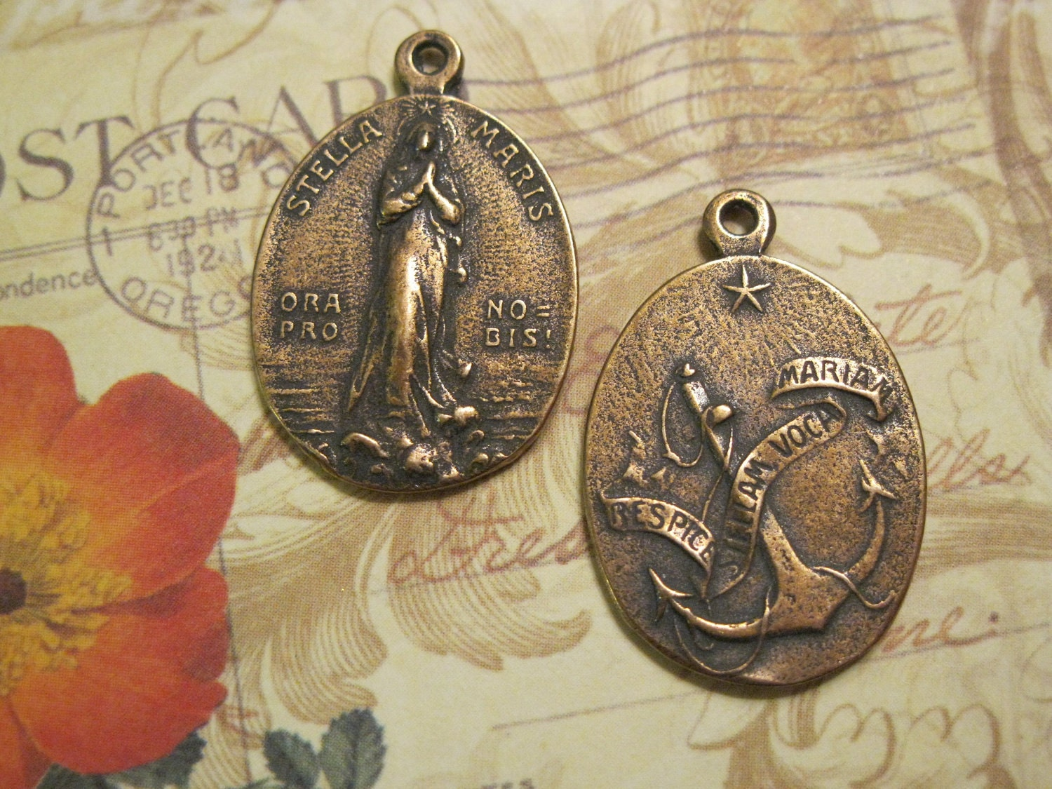 Stella Maris Our Lady Star Of The Sea Religious Medal