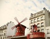Le Moulin--Moulin Rouge, Paris, Red, Fine Art Photograph