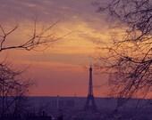 Parisian Sunset--Dreamy, Saturated, Colorful, Montmartre, Paris Fine Art Photograph