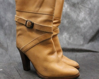 Vintage Boots Argentina Womens Boots Rustic Tan leather Boots 7