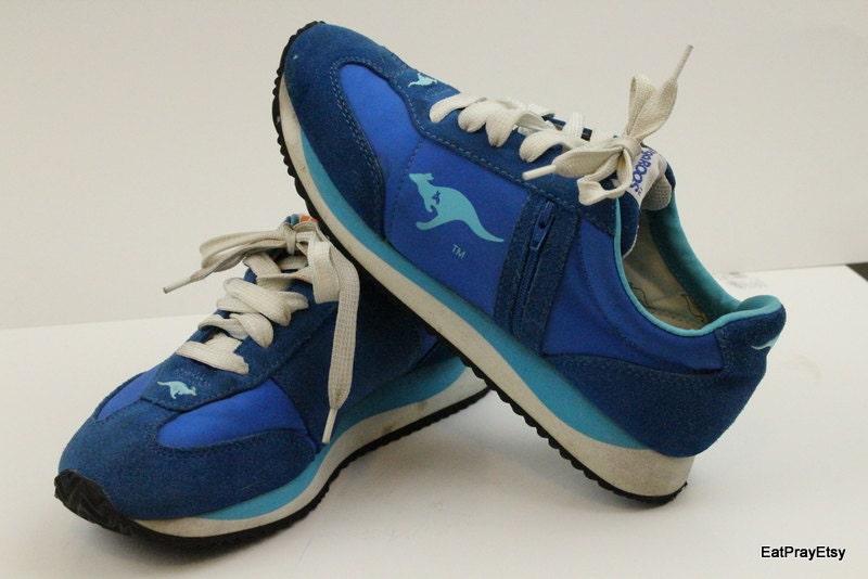 kangaroos shoes blue zipper tennis womens shoes 8 roos