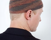 Variegated Earthy Skullcap / Kufi / Yamaka - FREE SHIPPING within the U.S.