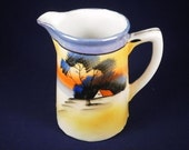 Shop Sale on now. Delicate Vintage Japanese Sunset creamer .Free If u buy set. matches tea cup,saucer & plate tea set
