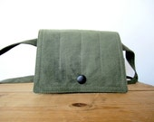 US Military Canvas Fanny Pack Repurposed iphone pouch