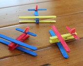 Clothespin Airplane Kids Craft Kit - Makes 4 planes