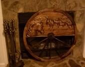 "Western Wood Wagon Wheel 36"""