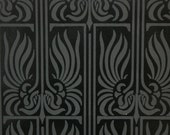 AWESOME BLACK DECO Handprint Wallpaper