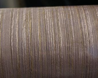 MODERN CLASS SILK Pinstripe-Dusty Rose Gold Color Wallpaper Sold By Single Roll