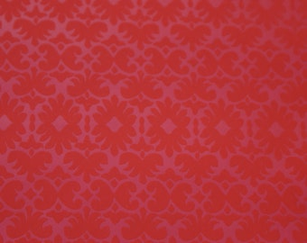 Hot & Sexy RED On RED DECO Handprint Wallpaper