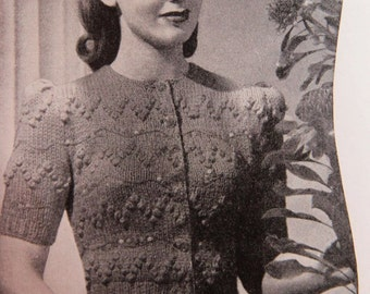 40s Style - Forever Young -Vintage Style with Ladies Knitted blouse- Knitting ePattern