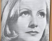 Vtg 1960s B&W Trilby No. 28 Greta Garbo Movie Poster NOS