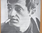 Vtg 60s B&W Trilby Jean Paul Belmondo Movie Poster NOS