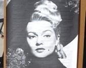 Vintage 1960s B&W Trilby Lana Turner Movie Poster NOS