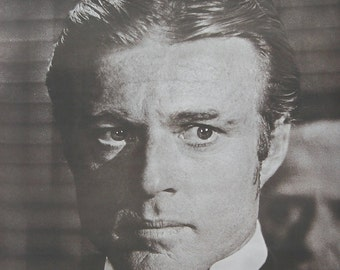 "Vintage 1973 Robert Redford "" The Sting "" Movie Poster"